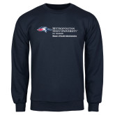 Navy Fleece Crew-Master of Health Administration