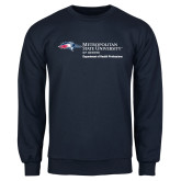 Navy Fleece Crew-Department of Health Professions