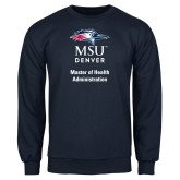 Navy Fleece Crew-Master of Health Administration Vertical