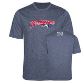 Performance Navy Heather Contender Tee-Roadrunners with Head