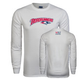 White Long Sleeve T Shirt-Roadrunners with Head