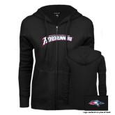 ENZA Ladies Black Fleece Full Zip Hoodie-MSU Roadrunners