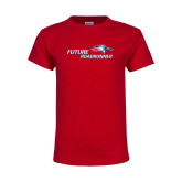 Youth Red T Shirt-Future Roadrunner