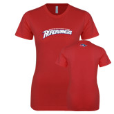 Next Level Ladies SoftStyle Junior Fitted Red Tee-MSU Roadrunners