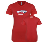 Next Level Ladies SoftStyle Junior Fitted Red Tee-Grandma