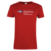 Ladies Red T Shirt-Department of Social Work