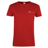 Ladies Red T Shirt-School of Education Flat