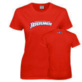 Ladies Red T Shirt-MSU Roadrunners