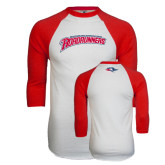 White/Red Raglan Baseball T-Shirt-MSU Roadrunners