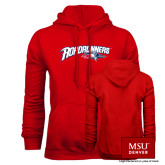 Red Fleece Hoodie-Roadrunners with Head