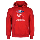 Red Fleece Hoodie-Department of Health Professions Vertical