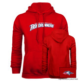 Red Fleece Hoodie-MSU Roadrunners