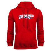 Red Fleece Hoodie-Softball