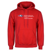 Red Fleece Hoodie-Department of Social Work