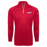 Under Armour Red Tech 1/4 Zip Performance Shirt-Primary Mark