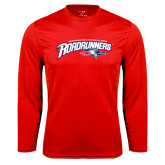 Performance Red Longsleeve Shirt-Primary Mark