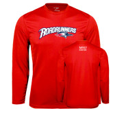 Performance Red Longsleeve Shirt-Roadrunners with Head
