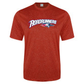 Performance Red Heather Contender Tee-Roadrunners with Head