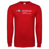 Red Long Sleeve T Shirt-Department of Social Work
