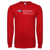 Red Long Sleeve T Shirt-Department of Health Professions