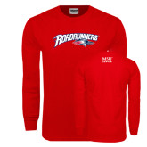 Red Long Sleeve T Shirt-Roadrunners with Head
