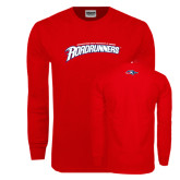 Red Long Sleeve T Shirt-MSU Roadrunners