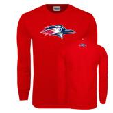 Red Long Sleeve T Shirt-Roadrunner Head