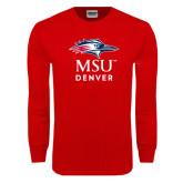 Red Long Sleeve T Shirt-Informal Logo
