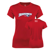 Ladies Syntrel Performance Red Tee-Roadrunners with Head