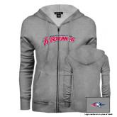 ENZA Ladies Grey Fleece Full Zip Hoodie-MSU Roadrunners