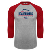 Grey/Red Raglan Baseball T Shirt-Baseball