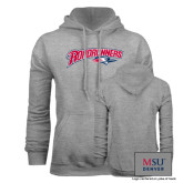 Grey Fleece Hoodie-Roadrunners with Head