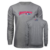 Grey Long Sleeve T Shirt-Roadrunners with Head