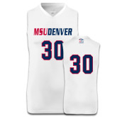 Replica White Adult Basketball Jersey-#30