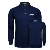 Navy Long Sleeve Polo-Roadrunners with Head