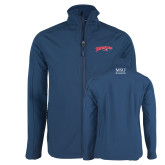 Navy Softshell Jacket-Roadrunners with Head