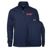 Navy Slub Fleece 1/4 Zip Pullover-Roadrunners with Head