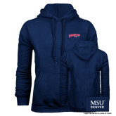 Navy Fleece Hoodie-Roadrunners with Head