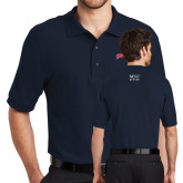 Navy Easycare Pique Polo-Roadrunners with Head