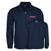 Full Zip Navy Wind Jacket-Roadrunners with Head