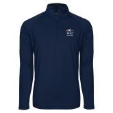 Sport Wick Stretch Navy 1/2 Zip Pullover-Informal Logo