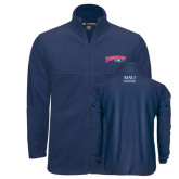 Fleece Full Zip Navy Jacket-Roadrunners with Head