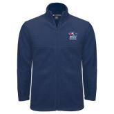 Fleece Full Zip Navy Jacket-Informal Logo