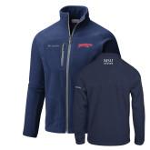 Columbia Full Zip Navy Fleece Jacket-Roadrunners with Head