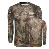 Realtree Camo Long Sleeve T Shirt w/Pocket-Roadrunners with Head