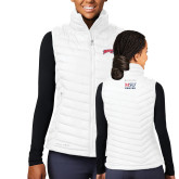 Columbia Lake 22 Ladies White Vest-Roadrunners with Head
