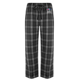 Black/Grey Flannel Pajama Pant-Informal Logo