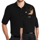 Black Easycare Pique Polo-Roadrunners with Head