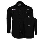 Columbia Bahama II Black Long Sleeve Shirt-Roadrunners with Head