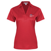 Ladies Red Performance Fine Jacquard Polo-School of Education